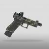 Cerakoted glock has slide cuts and cerakote multicam black