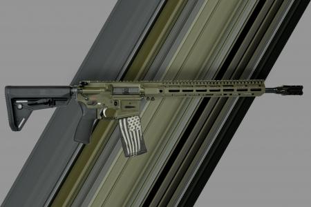 custom AR-15 battle of gonzales custom laser engraving